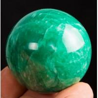 Üst kalite! Mükemmel Renk Yeşil Amazonit Küre - 49 mm