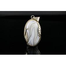 925 Ayar Gümüş ile agat kolye ucu