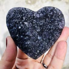 Mor Ametist Kalp Şekilli